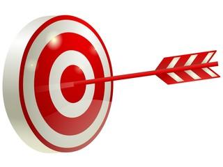 射的のマーク 的と矢