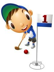 グラウンドゴルフ 少年
