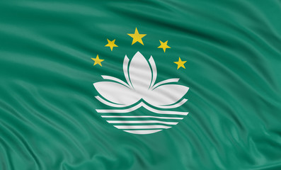 3D flag of Macau