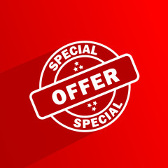 SPECIAL OFFER Marketing Stamp (label discount sale)