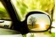 Leinwandbild Motiv Sunset on a lonely country road