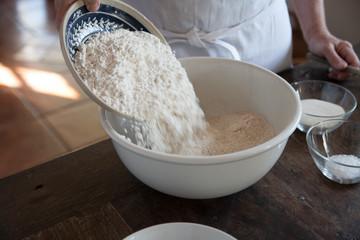 Mehl zum Backen