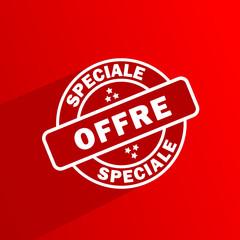 Tampon OFFRE SPECIALE (soldes prix étiquette vignette bouton)