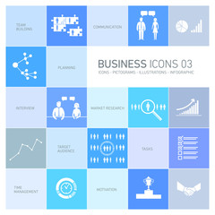 vector busines icons and pictograms set