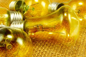 image of light bulbs on a light background