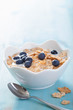 cornflakes with blueberry