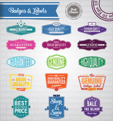 Colored eps10 Vector promotional tags and badges