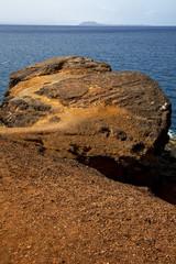 musk pond rock stone in el golfo lanzarote spain