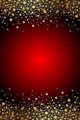 Vector red and gold luxury background