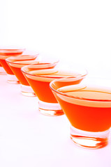 red orange jelly diagonal vertical