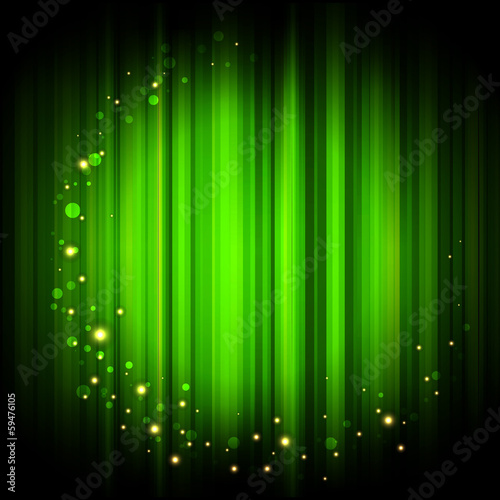 Vector red abstract background with gold lights