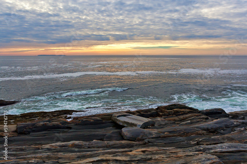 The rock ledges at Pemaquid Point, Maine