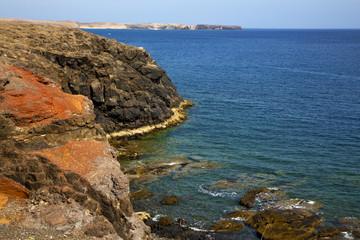 water  coastline and summer in el golfo lanzarote