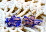 handmade glass flower earrings