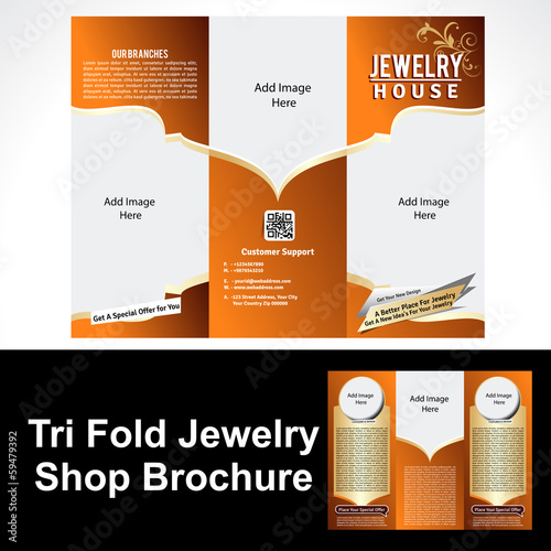 Tril Fold Jewelry Shop Brochure
