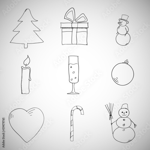 Collection of Christmas icons/objects