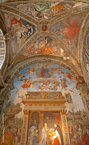 RomRome - fresco -  chapel of Santa Maria sopra Minerva church