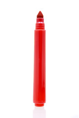 Red marker isolated on white background