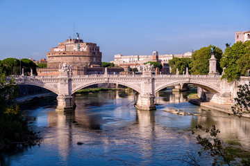 Vittorio Emanuele II bridge over the Tiber river