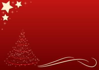 sfondo natalizio rosso albero di natale silizzato con stelle