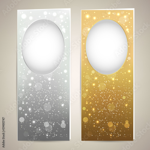Silver and Gold cards templates