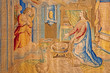 Bergamo - Gobelin of Annunciation in cathedral - detail
