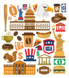 vector america icons set