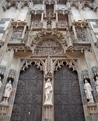 Kosice - North portal of Saint Elizabeth gothic cathedral