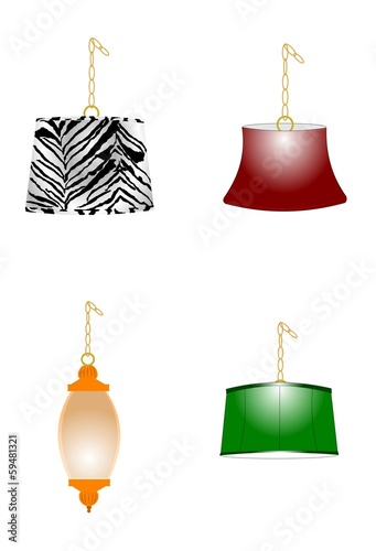 swag lamps from sixties