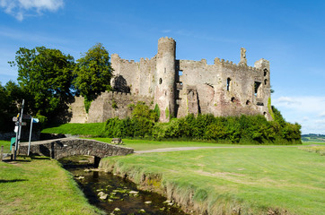 Laugharne Castle in Carmarthenshire - Wales, United Kingdom
