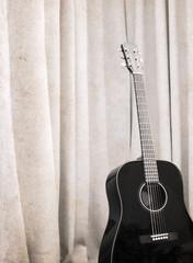 Artwork in grunge style, guitar
