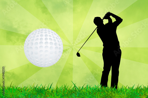 illustration of golf