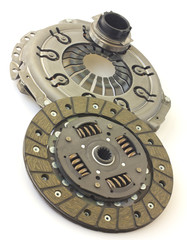 Car clutch isolated