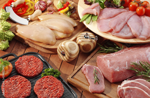 assorted meat for barbecue