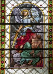 Levoca - Saint Michel from windowpane in Basilica