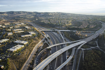 Aerial Photo of a Freeway
