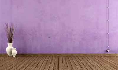 Purple grunge interior