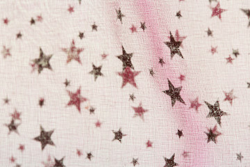 fabric grunge christmas background with stars pattern-shallow DO