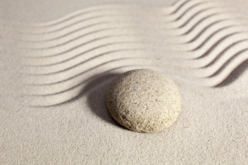 peaceful still-life with sand
