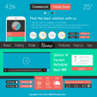 Modern Flat Style UI interface designs