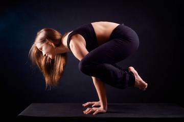 Yoga pose in studio
