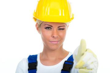 motivierte heimwerkerin