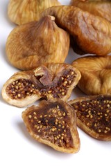 fig fruit, whole, half, two,