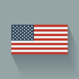 Flat flag of the USA