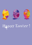 greatingcard easter, colourful, grungy, popart poster
