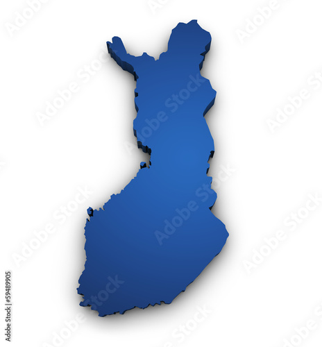 Map Of Finland 3d Shape