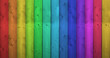 Rainbow Colors On Wooden Background