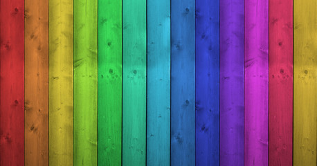 Rainbow Colors On Wooden Background © niroworld