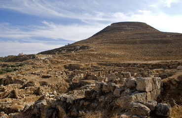 Ruins of the fortress of Herod, the Great, Herodium, Palestine