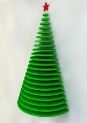 Biglietto di Natale, albero di Natale